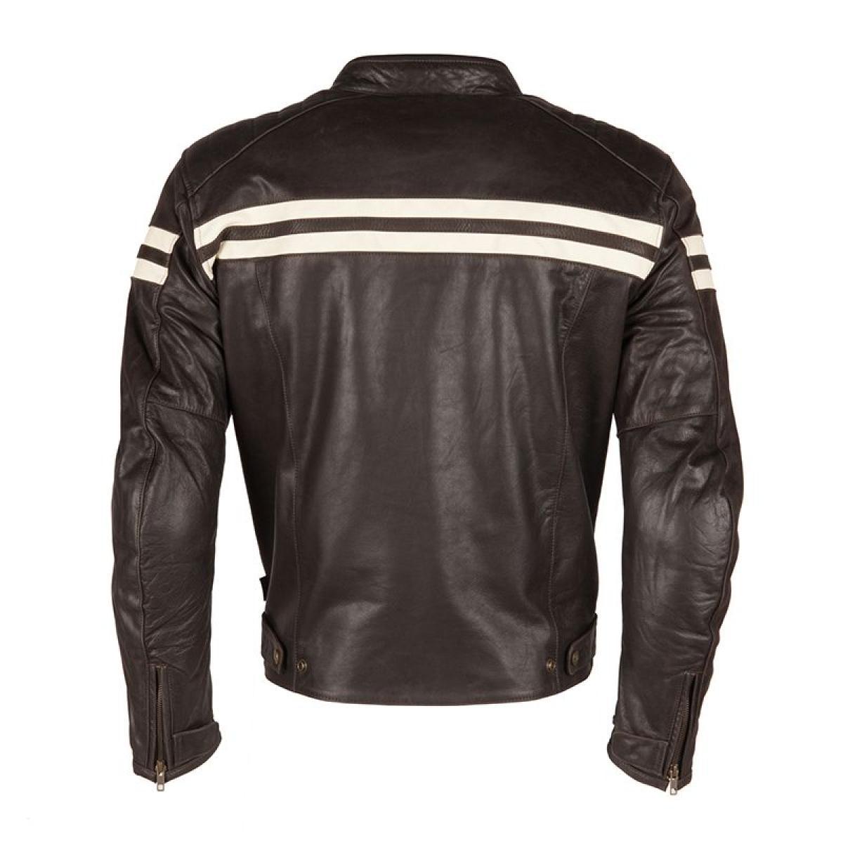 blouson cuir moto segura retro marron beige. Black Bedroom Furniture Sets. Home Design Ideas
