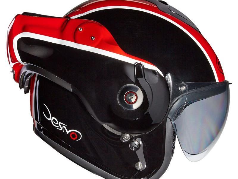 casque moto modulable roof desmo flash noir rouge. Black Bedroom Furniture Sets. Home Design Ideas