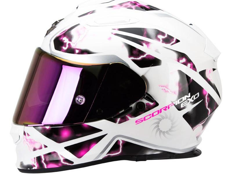 casque moto integral scorpion exo 510 air xena blanc rose. Black Bedroom Furniture Sets. Home Design Ideas
