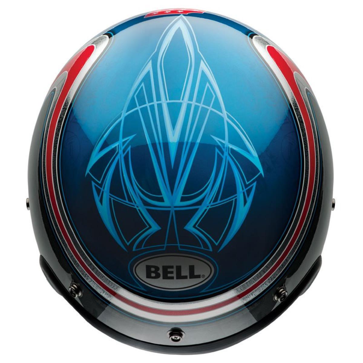 casque moto jet bell custom 500 airtrix heritage bleu rouge. Black Bedroom Furniture Sets. Home Design Ideas
