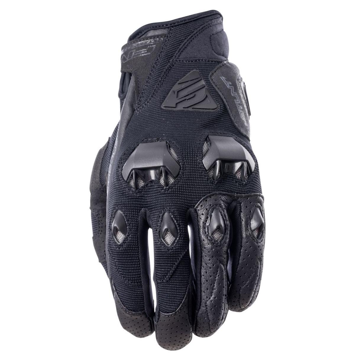 gants et homme gants moto five stunt lite noir. Black Bedroom Furniture Sets. Home Design Ideas