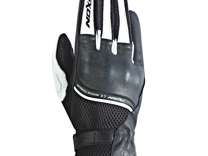 gants moto femme ixon rs shine hp noir blanc. Black Bedroom Furniture Sets. Home Design Ideas