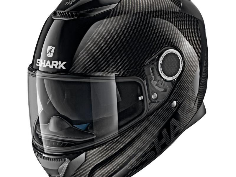 casque moto integral shark spartan carbon skin noir. Black Bedroom Furniture Sets. Home Design Ideas