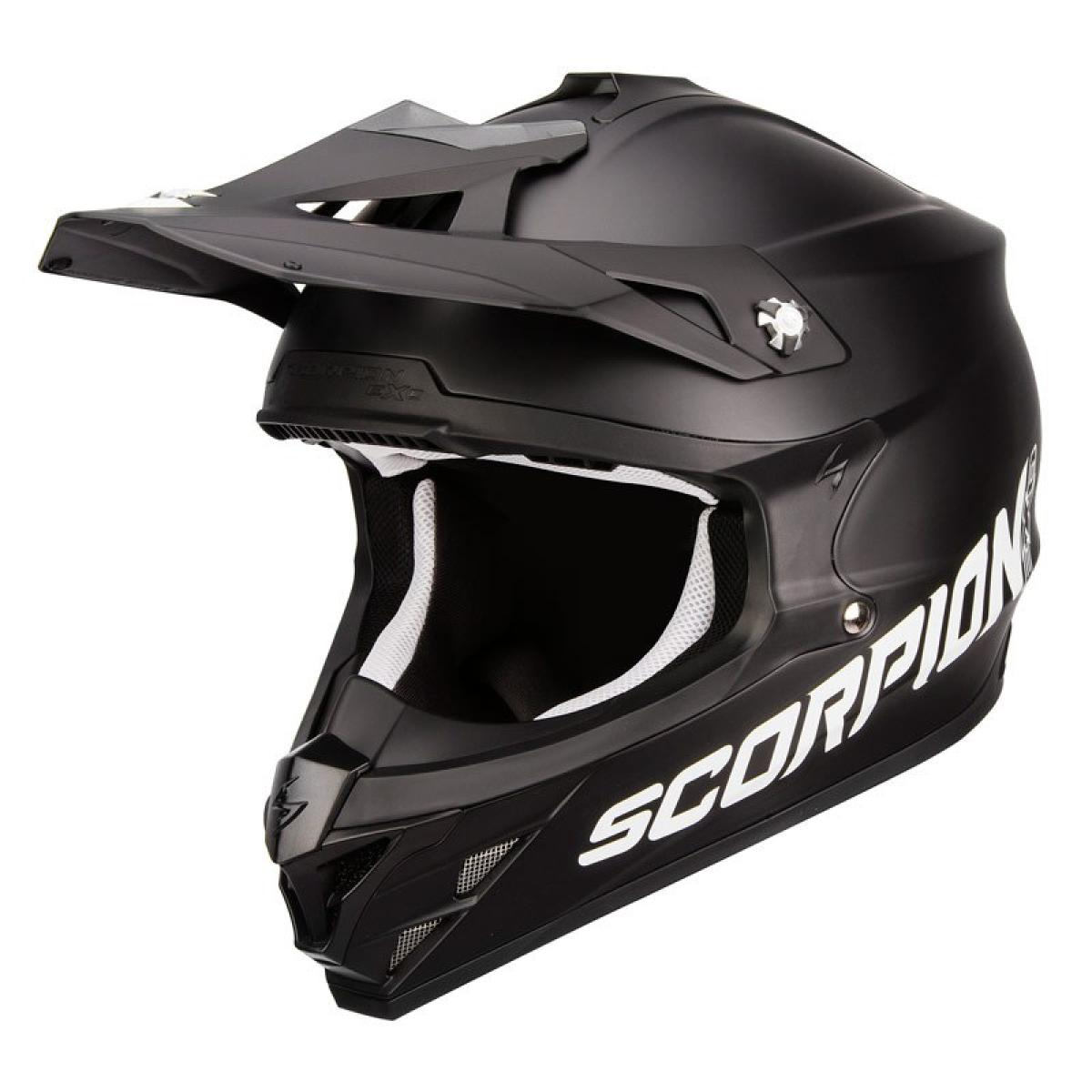 casque moto cross scorpion exo vx 15 evo air solid noir mat. Black Bedroom Furniture Sets. Home Design Ideas