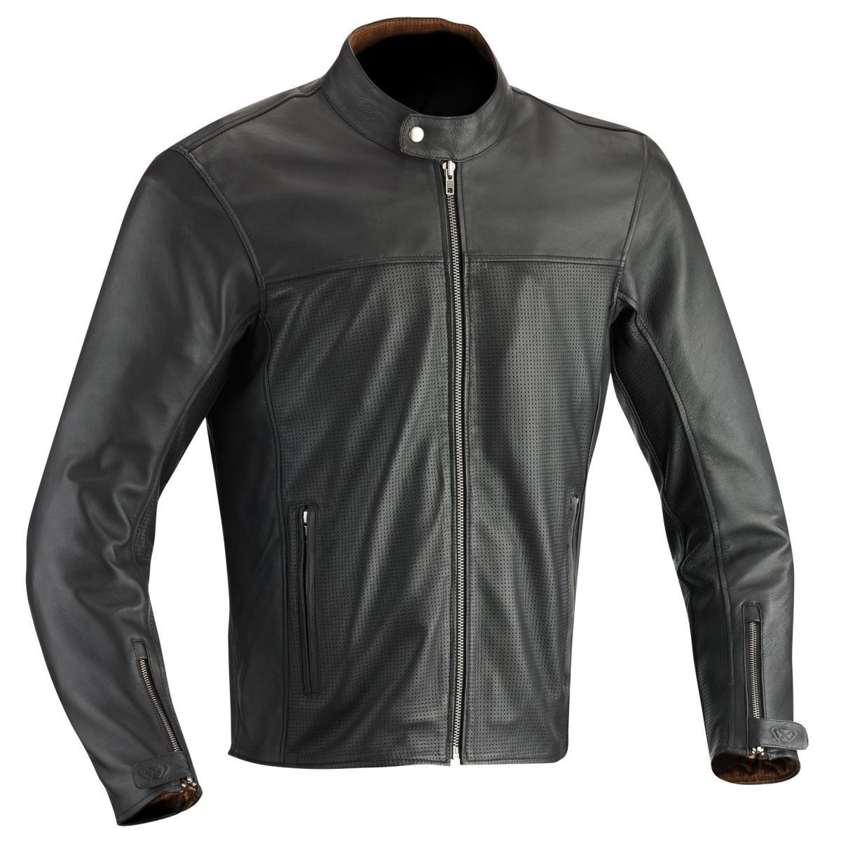 blouson moto cuir ete ixon stroker marron. Black Bedroom Furniture Sets. Home Design Ideas