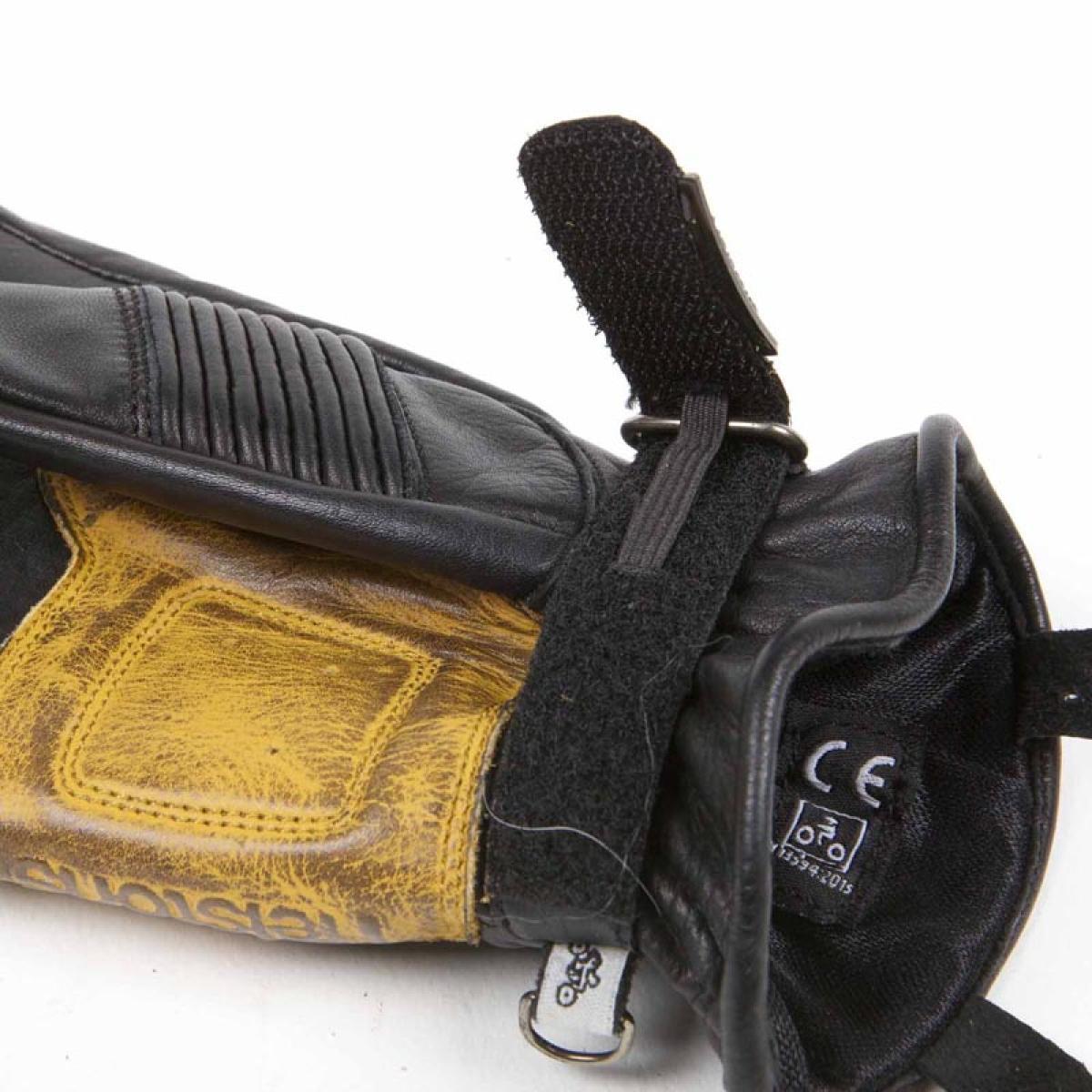 gants moto ete homme cuir helston 39 s velvet noir or. Black Bedroom Furniture Sets. Home Design Ideas