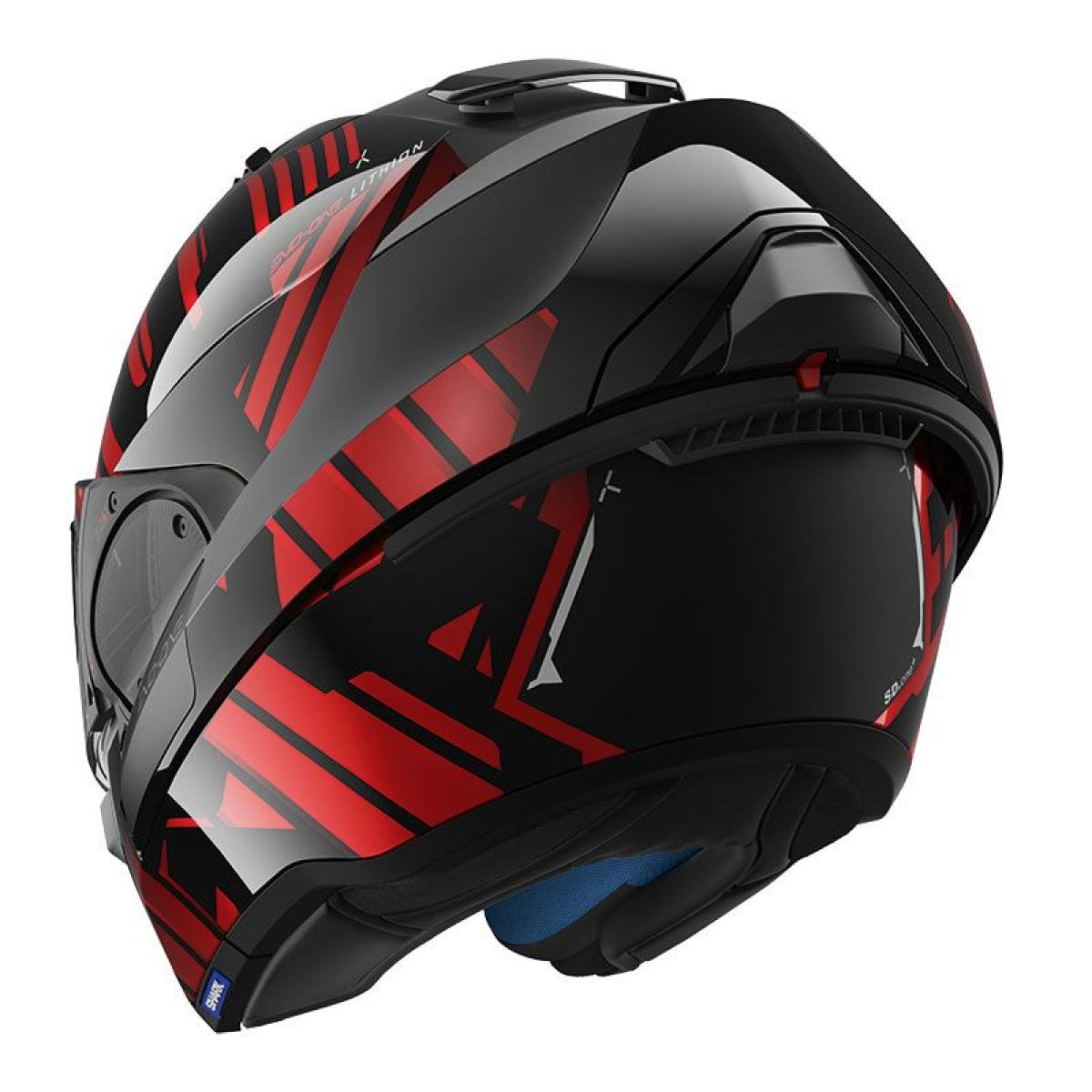 casque moto modulable shark evo one 2 lithion dual kur rouge. Black Bedroom Furniture Sets. Home Design Ideas