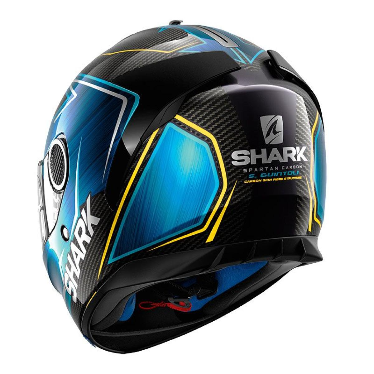 casque moto shark spartan carbon replica guintoli bleu 2018. Black Bedroom Furniture Sets. Home Design Ideas
