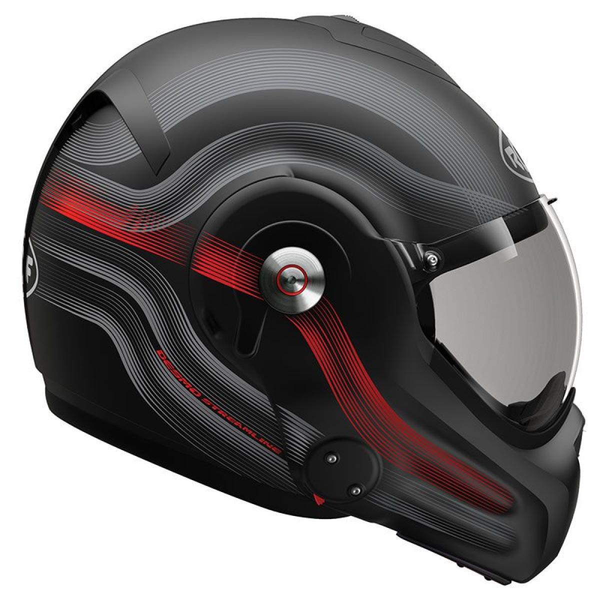 casque moto convertible roof desmo streamline noir titane rouge mat. Black Bedroom Furniture Sets. Home Design Ideas
