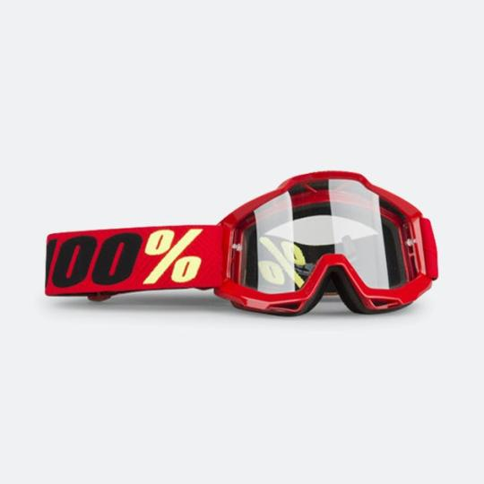 MASQUE MOTO CROSS 100% ACCURI SAARINEN - ROUGE / JAUNE