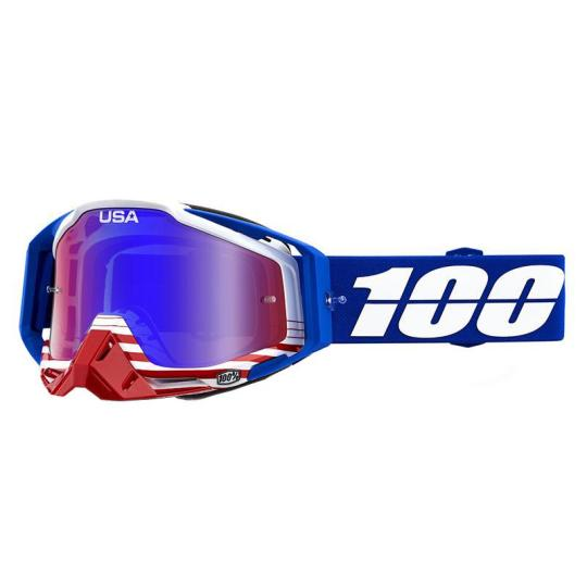 MASQUE MOTO CROSS 100% RACECRAFT ANTHEM - BLEU / BLANC / ROUGE
