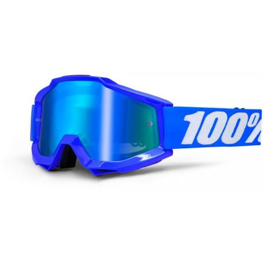 MASQUE MOTO CROSS 100% ACCURI REFLEX BLUE - BLEU